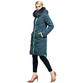 Fur Hood Long Quilted Winter Coat Jacket Women