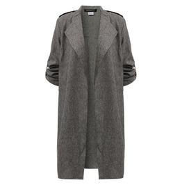 Slim Thin Lapel Windbreaker Linen Cardigan Jacket Women Plus Size