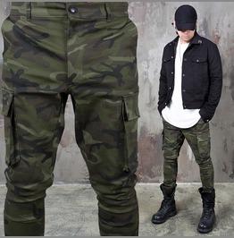 Camouflage Cargo Pocket Back Banding Pants 163