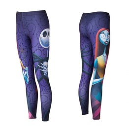 Women's Jack & Sally Slim Fitted Halloween Leggings