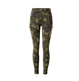 Women's Side Pocket Slim Fitted Camouflage Jeans