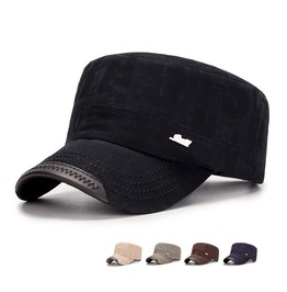 Men's Cotton Flat Top Peaked Baseball Hat Cap