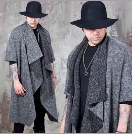 Draping Shawl Wool Cardigan 109