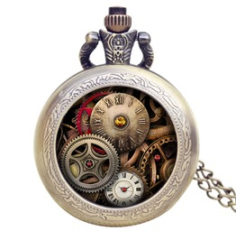 Antique Design Gear Mechanical Steampunk Pocket Watch