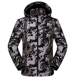 Soft Shell Hooded Zipper Tactical Military Camouflage Men Jacket