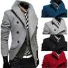 Rebelsmarket oblique single row clasp slim wool coat men jackets 4