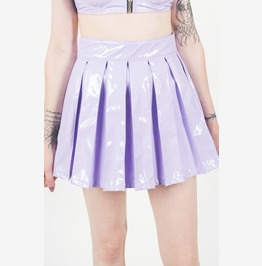 Iron Fist Vinyl Classic Pleated Skirt (Purple)