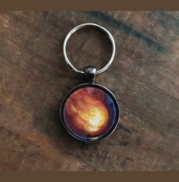 Fire Keychain With Original Artwork