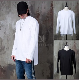 Side Opening Unbalanced Shirts 813