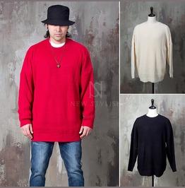 Plain Boxy Knit Sweater 47