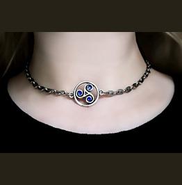 Bdsm Symbol Triskele Day Submissive Collar Metal Necklace Dominant Slave