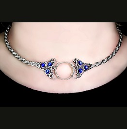 Submissive Day Collar Steampunk Bdsm Symbol Triskele Metal Necklace Chain