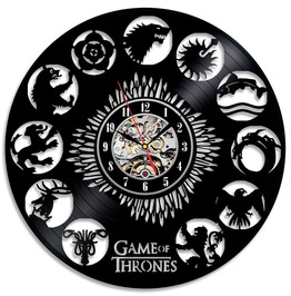 Game Of Thrones Stark Vinyl Record Wall Clock Decorate You Home With Modern