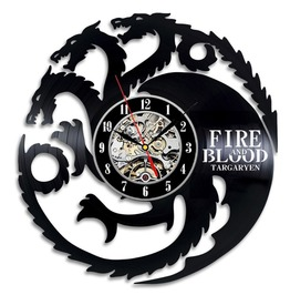 12 Inch (30 Cm) Game Of Thrones Targaryen Vinyl Record Wall Clock Decorate
