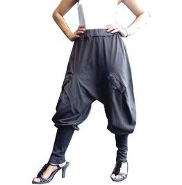 Charcoal Gray Ninja Gaucho Pant Apocalyptic Style Harem Pants P060