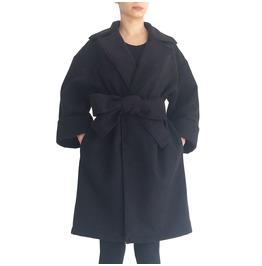 """Long Black Coat Maxi Winter Coat Minimalist Coat Cocoon Coat """"Winter"""""""
