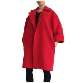 """Long Red Coat Maxi Winter Coat Minimalist Coat Cocoon Coat """"Winter"""""""