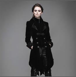 Swallow Tail Velvet W Inter Autumn Coat Womens Black Red