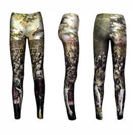 Storm Of Walking Dead Zombies Ghoul Blood Outbreak Cars Helicopter Leggings