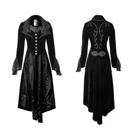 Long Victoria Velvet Lace Coat Womens Goth