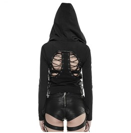 Hollow Back Girl Lace Up Hoodie Womens