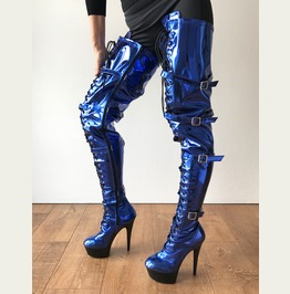 Rtbu Oscar (Full Zip) 15cm Platform 80cm Crotch Cosplay Goth Punk Blue