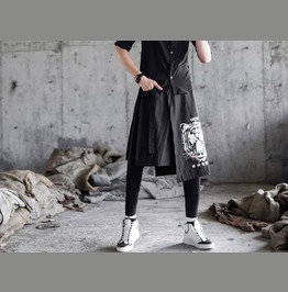 Punk Rock Mens Fashion Skirts Black Leggings Pants