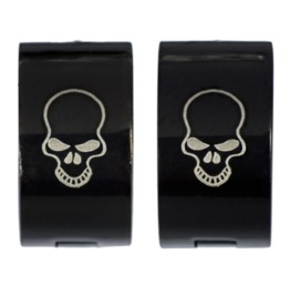 Skull Black Earrings