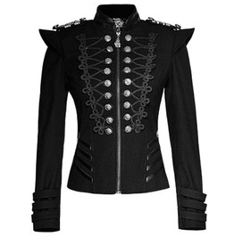 Women Military Style Short Jacket Steampunk Cosplay Uniform Gothic Jacket