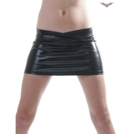 Glossy Black Mini Skirt