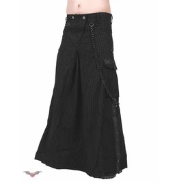 Long Skirt Black Chains