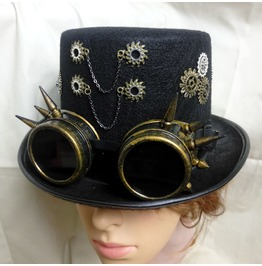 Handmade Mens Steampunk Top Hat Halloween Party Hats