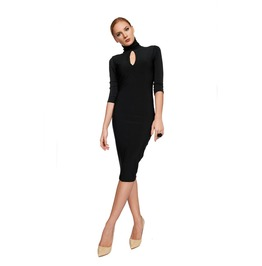 Black Dress, Tight Dress, Midi Lenght Dress, Formal Dress, Evening Dress