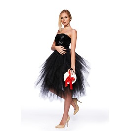 Steampunk Skirt, Gothic Clothing, Midi Skirt, Party Skirt, New Year Skirt