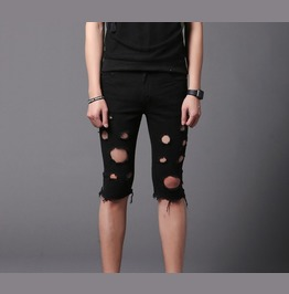 Summer Skinny Ripped Short Pants