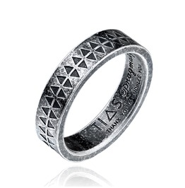 Men's Fashion Triangle Printed Totem Ring