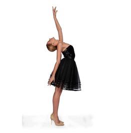 Black Short Skirt, See Through Skirt, Elegant Skirt, Black Circle Skirt