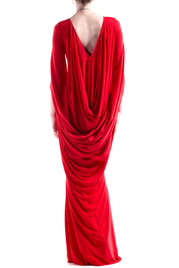 rebelsmarket_red_long_gown_formal_gown_cape_dress_cocktail_dress_christmas_dress_dresses_4jpg