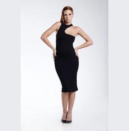 Petite Dress, Tight Dress, Halter Dress, Steampunk Dress, Open Back Dress