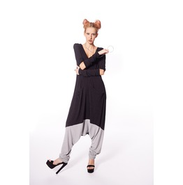Jumpsuit, Harem Jumpsuit, Union Suit, Black Romper, Plus Size Maxi Pants
