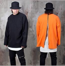 Long Back Zipper Accent Shirts 815