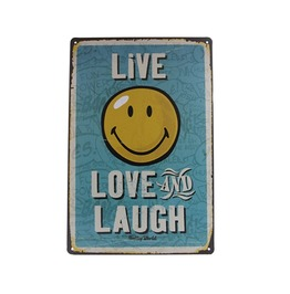 Live Love Laugh Metal Tin Sign Wall Decor Poster Retro Home Gift