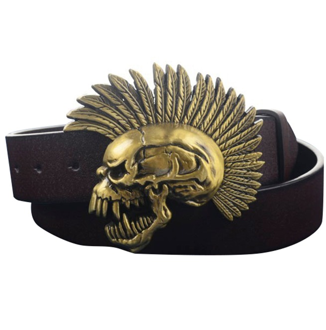 de498ab1a41 Fashion male belt plus Size with dragon claw guitar skull belt buckle metal men  leather belts