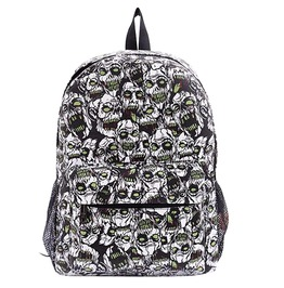 Goth Punk Zombie Graffiti Canvas Backpack Sport Travel Bag