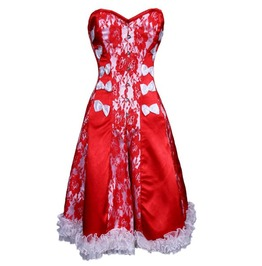 Floral Bow Charmer Corset Dress