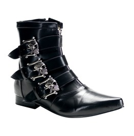 Skull Fury Men's Ankle Boots