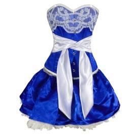 Sky Fate Corset Dress Blue