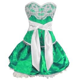 Sky Fate Corset Dress Green
