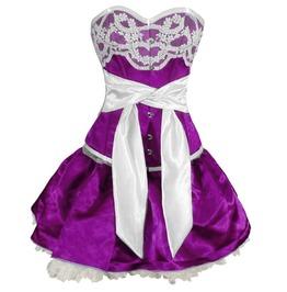 Sky Fate Corset Dress Violet