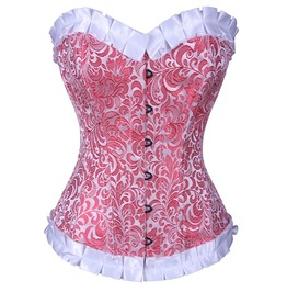 Rose Dusted Floral Corset